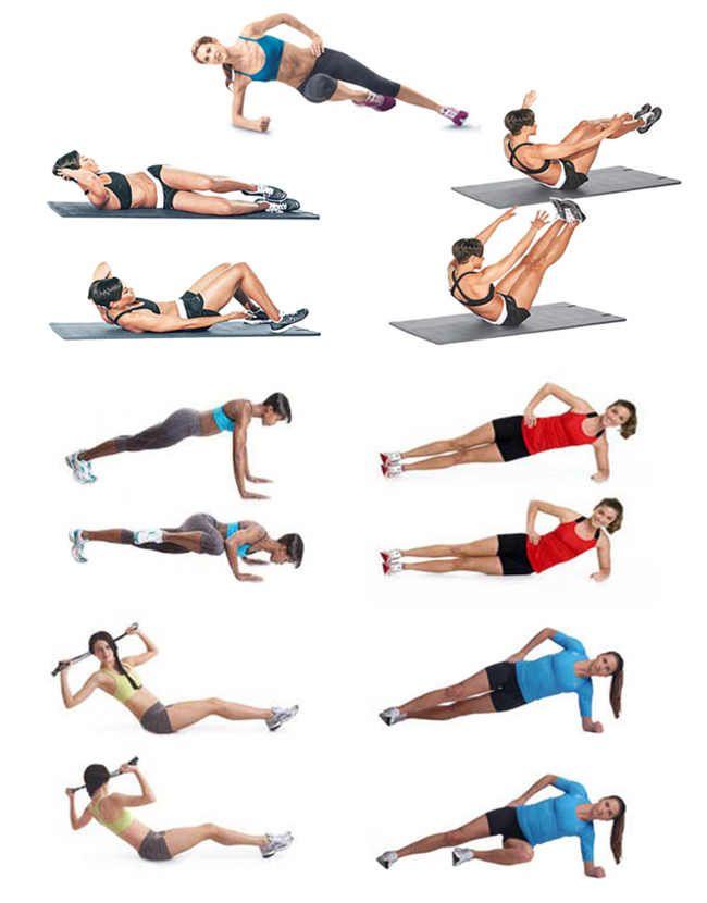 Упражнении для похудения талии