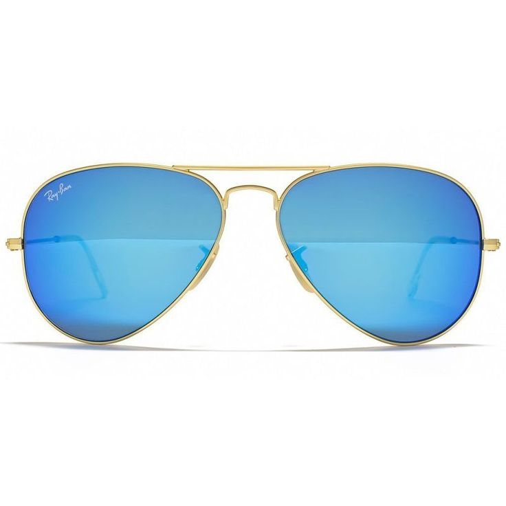 Ray Ban Aviator Sunglasses Gold Blue Brown RB3025 | Buy For Him