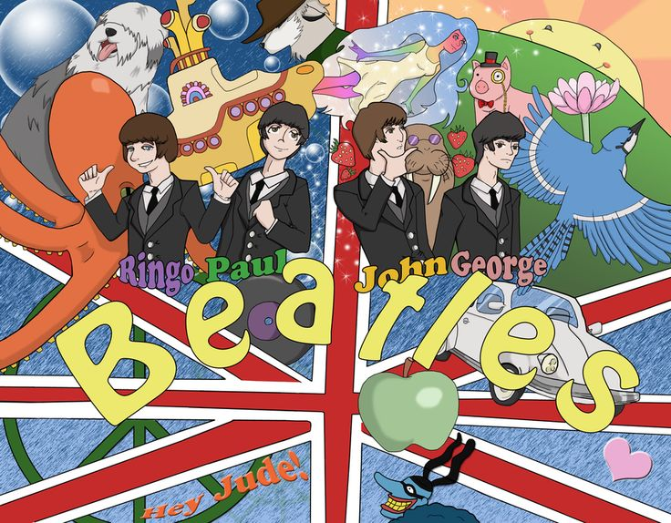 devientart the beatles anime | Introducing The Beatles by ReptilianMonsters