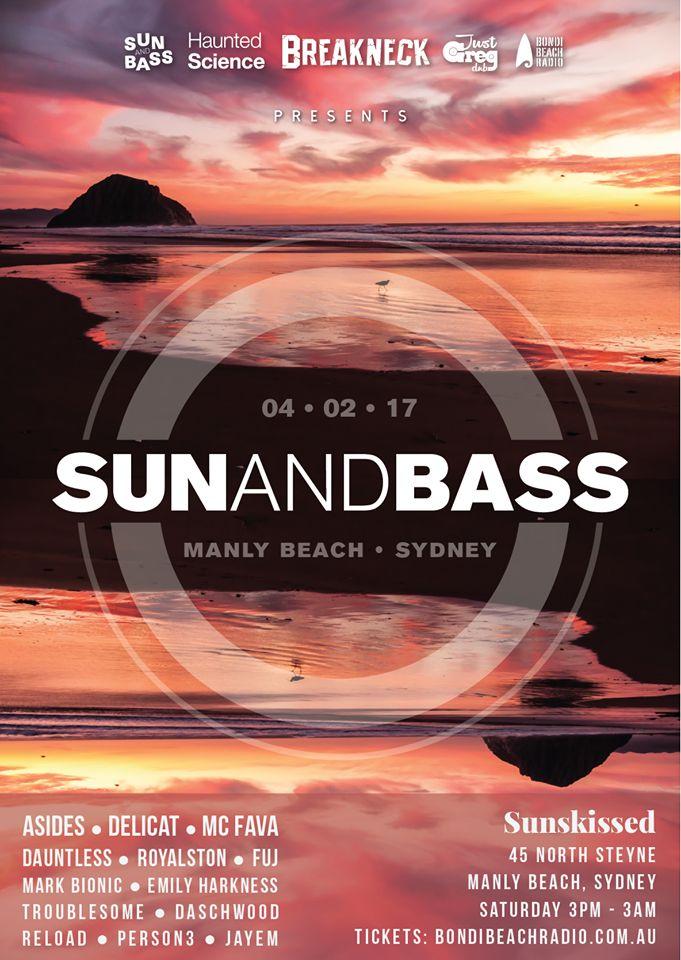 Sun & Bass Sydney Sat 4 Feb -Manly Beach
