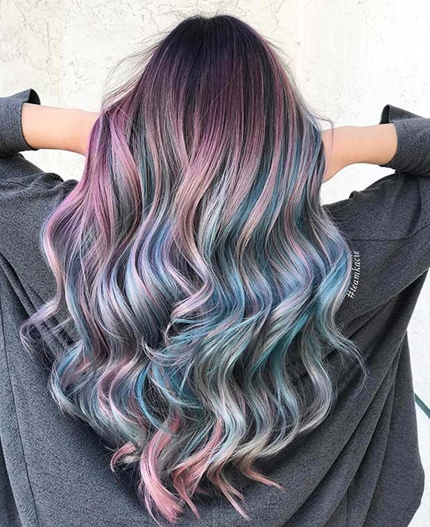 23 Unique Hair Color Ideas For 2018 Page 2 Of 2 Stayglam Hair Color Unique Colored Hair Tips Wild Hair Color