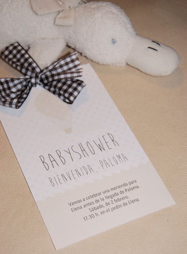 Invitaciones para babyshower
