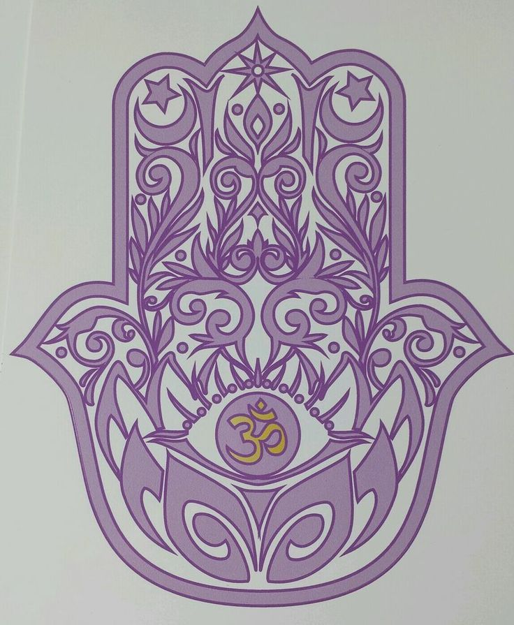 HAMSA HAND with LOTUS and OM symbol