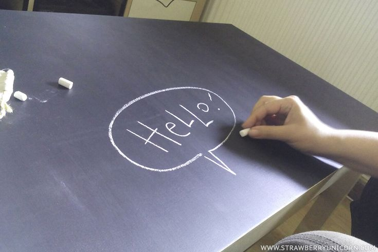 How to make a fun chalkboard coffee table from a Lack coffee table