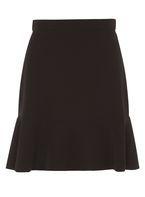 Womens Black High-Low Hem Mini Skirt- Black