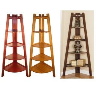 Furniture of America Kiki 5-tier Corner Ladder Display Bookcase   Overstock.com Shopping - The Best Deals on Media/Bookshelves