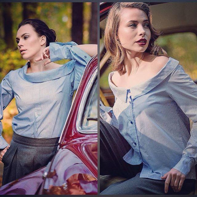 У нас сегодня опять +24 🌞 а на фото мои осенние работы - полосатые блузки-рубашки из итальянской сорочечной ткани #летопришло  #шьюкрасоту #шьюдлявас #myviento