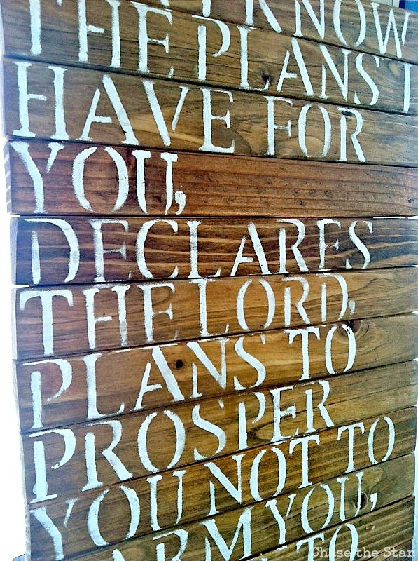 DIY Wood Sign. scripture bible verse woodsign