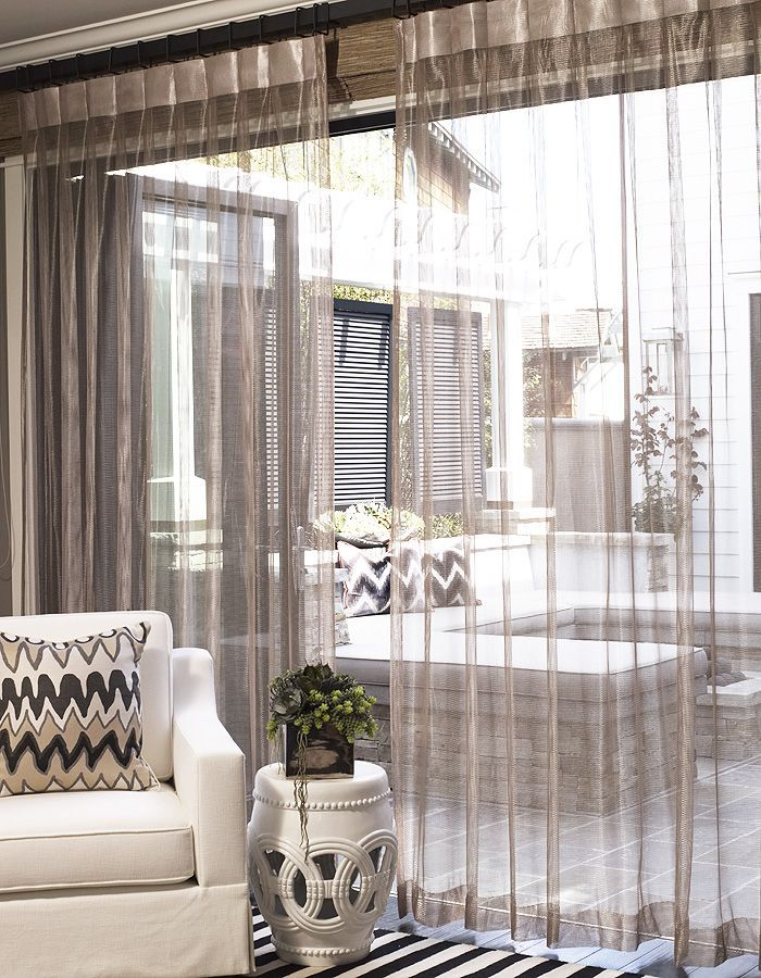 design  Continued pattern in and out and sheer curtains