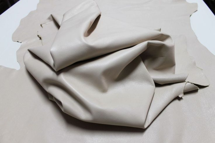 Italian lambskin soft leather hide hides skin skins IVORY 6sqf