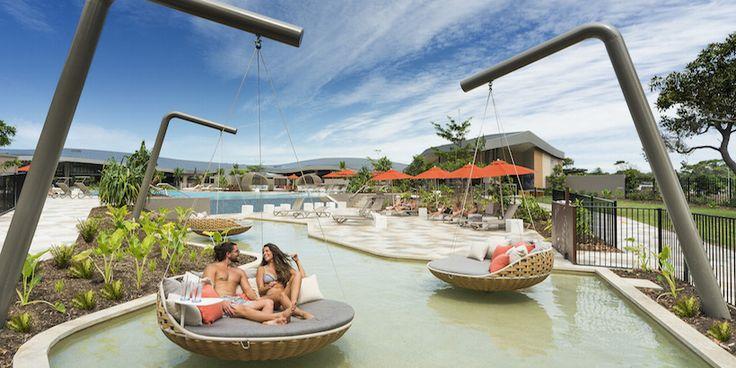 Byron Bay Resort. Directly on Belongil Beach, this Byron Bay resort has luxury accommodation, lagoon pool, a day spa and restaurants onsite. Elements of Byron