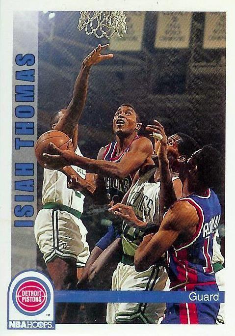 1992-93 Hoops #68  Isiah Thomas  Detroit Pistons  Basketball Card - MINT #DetroitPistons