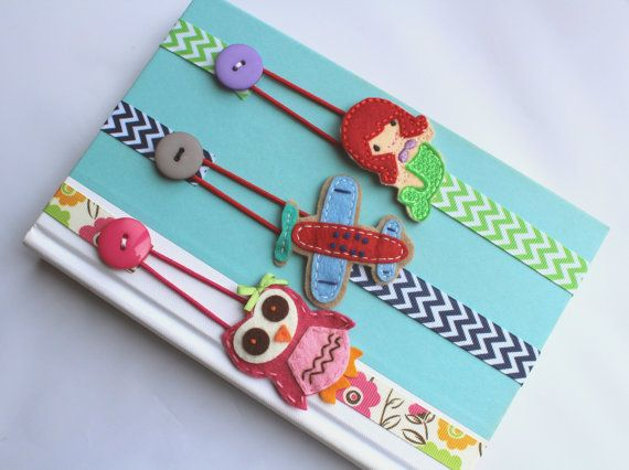 Pick ANY 3 Bookmarks Elastic Ribbon Kids Bookmark by BabyWhatKnots