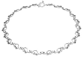 Tianguis Jackson Silver Swirling Necklace