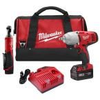 Milwaukee M12/M18 12/18-Volt Lithium-Ion Cordless M18 Impact Wrench and M12 Ratchet Combo Kit (2-Tool)