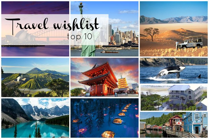 Travel wishlist top 10 // Food & So Much More