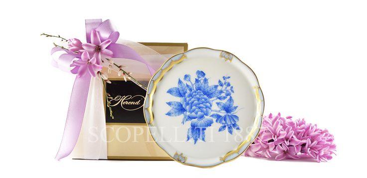 Sottobottiglia 12cm in porcellana Herend dipinta a mano www.scopelliti.it