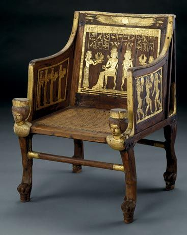 Throne of Princess Satamun from the tomb of the great great grandparents of King Tut