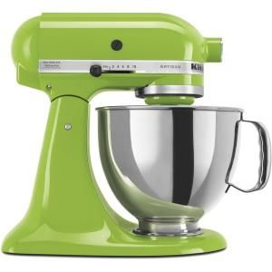 Artisan Series 5 qt. Tilt-Head Stand Mixer in Green Apple with Stainless Steel Mixing Bowl-KSM150PSGA at The Home Depot: Kitchen Aid, Apple Green, Colors, Green Kitchenaid, Lime Green, Green Apple, Stand Mixers, Stainless Steel, Aid Mixer