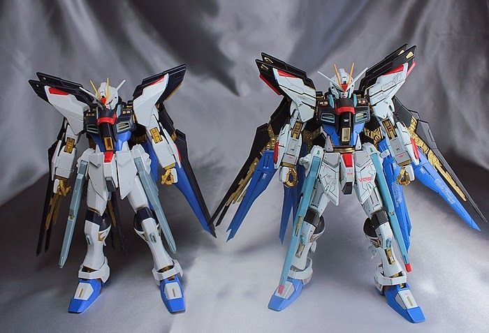 Mg 1 100 Strike Freedom Gundam Customized Build Modeled By Kouichi Gundam Strike Gundam Astray