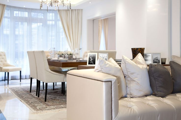Luxury Living and Dining Room | JHR Interiors
