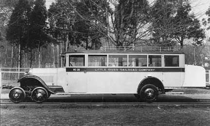 Studebaker Bus Adapted For Rail Use