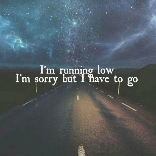 I'm running low, I'm sorry but I have to go. - Running Low / Shawn Mendes