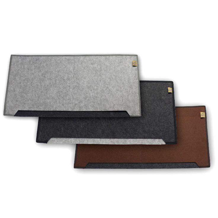 Big size 34cm*65cm Felt Mouse Mat Mouse Pad for macbook laptop notebook computer Durable Desk Mat Modern Table Felt Office home