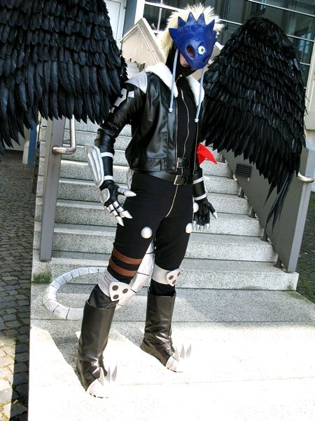 Anime: Digimon. Character: Beelzebumon. Cosplayer: Lie Chee (Germany).  Event:  Connichi 2009 in Kassel (Germany). Photo. Nina Benz.