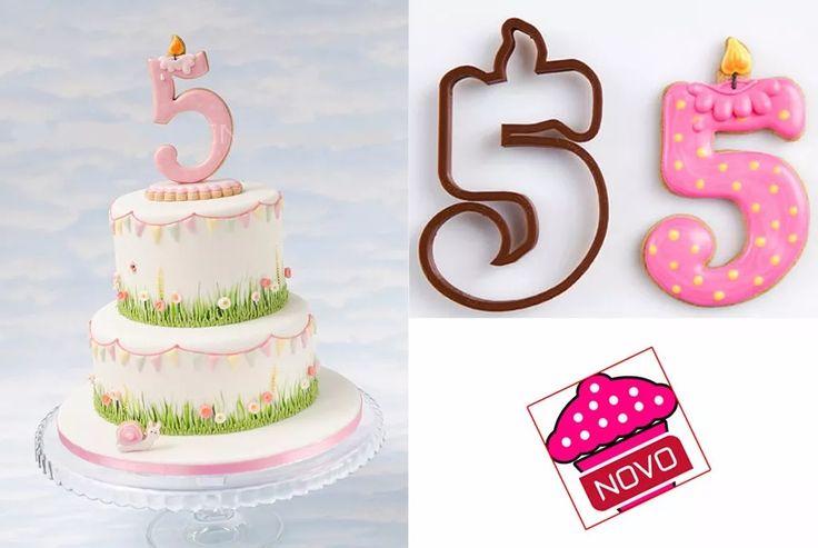 Cortador De Biscoito Números Forma Velinha De Aniversário - R$ 14,90 em Mercado Livre