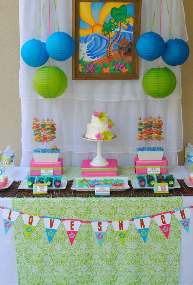 Luau Anniversary (Wedding) Party Ideas | Photo 17 of 31 | Catch My Party