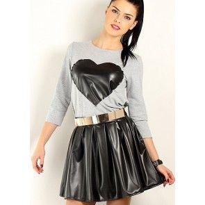 Short skirt model 28281 Makadamia