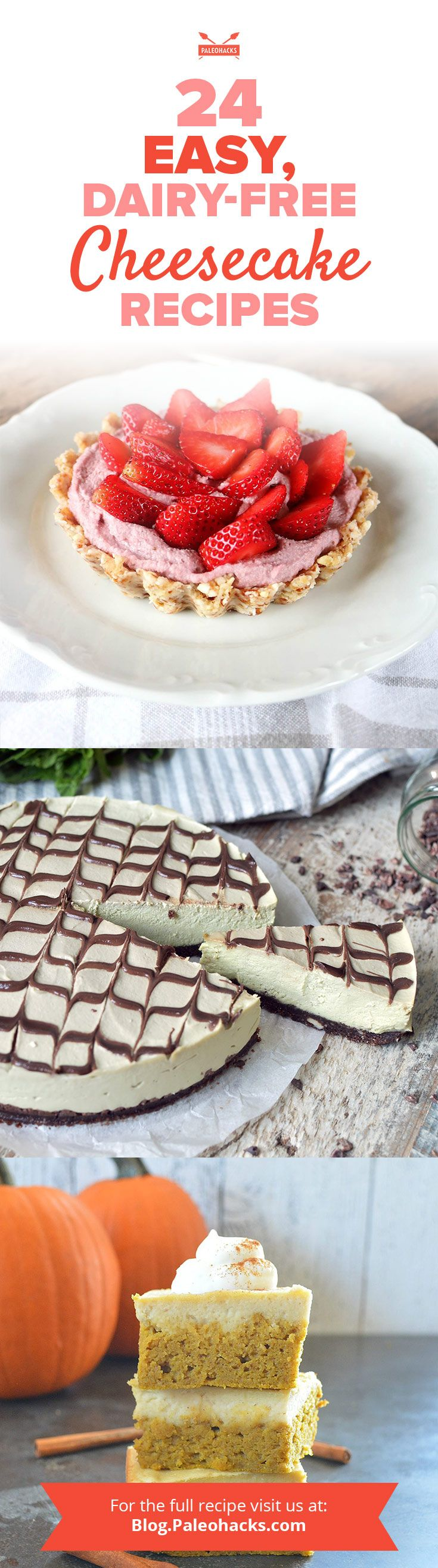 Admit it – there's almost nothing as alluring as a bite of dense, sweet and creamy cheesecake. Get the recipes here: http://paleo.co/cheesecakercps