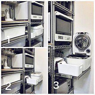 Kitchen/無印良品/IKEA/スチールラック/WECK/ガラス瓶...などのインテリア実例 - 2017-07-11 00:53:12