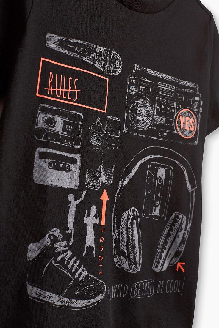 Esprit - T-shirt imprimé 100 % coton à acheter sur la Boutique en ligne