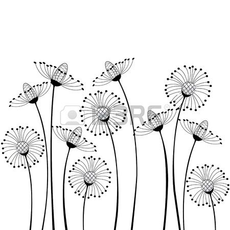 Fleurs Des Champs Sur Fond Blanc Clip Art Libres De Droits , Vecteurs Et Illustration. Image 14127430.