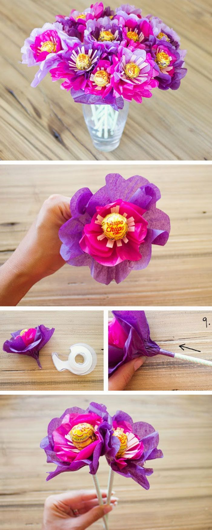 DIY Lollipop Bouquet   Click Pic for 22 DIY Christmas Gifts for Kids to Make   Handmade Christmas Gifts for Girls
