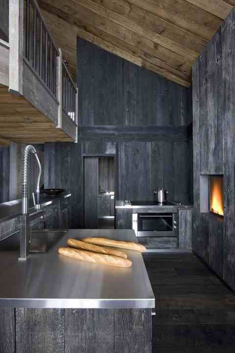 Kitchen Interior Design In The French Alps Photography By Serge Anton