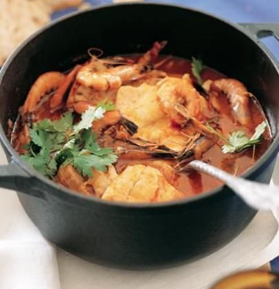 Caldeirada – Portuguese fish stew... Probably making this for thanksgiving!!!