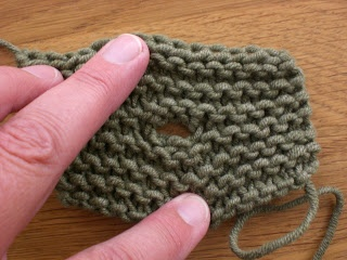It's a button hole that actually makes sense.--Fiona's Knitting