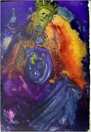 Love the colors & I love Dali's religious art. Vanitas vanitatum (Ecclesiastes 1:12f) by Salvador Dali  from The Biblia Sacra series.