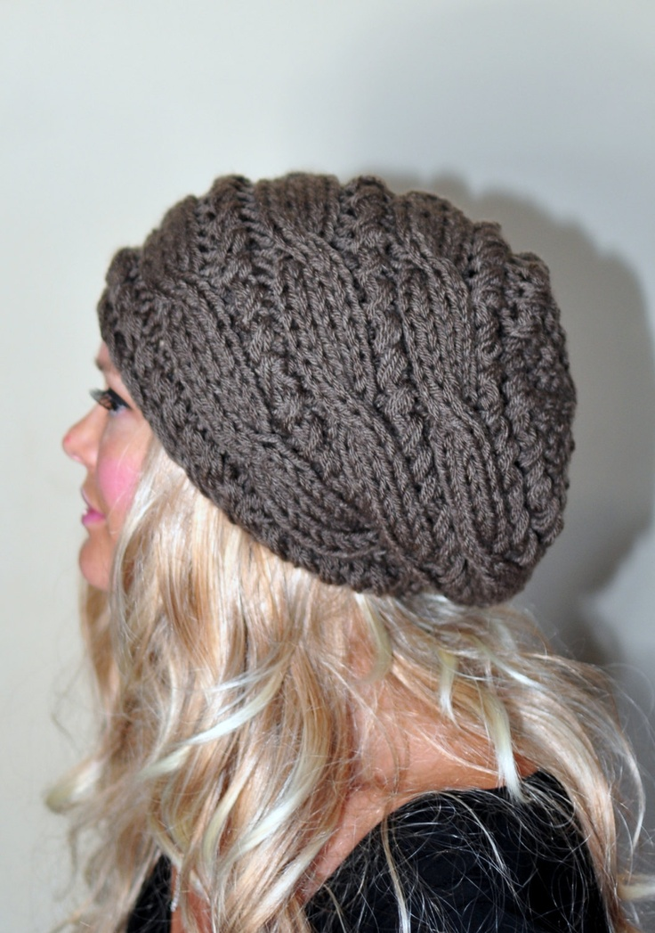 Slouchy Beanie Slouch Hat Cabled Braided