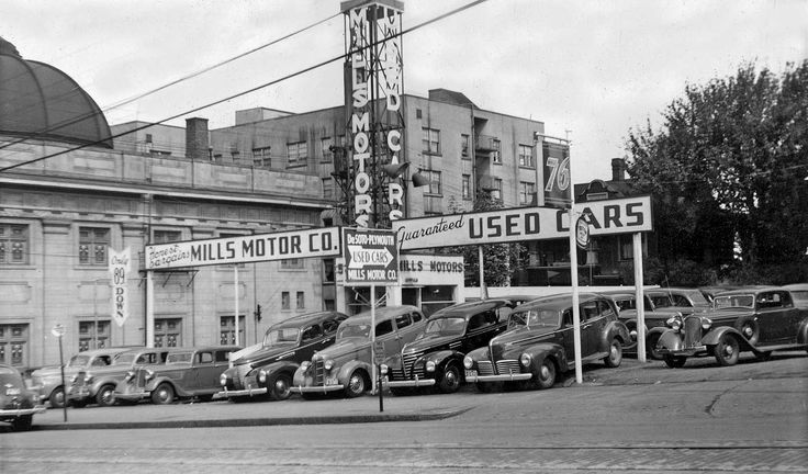 Image result for                                                  vintage used car lots
