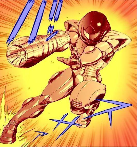Metroid Manga style