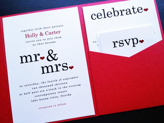 Wedding Invitation - Mr and Mrs Pearl Shimmer Signature Pocketfold Wedding Invitation Suite - Wedding Invite - Pocketfold Invite via Etsy