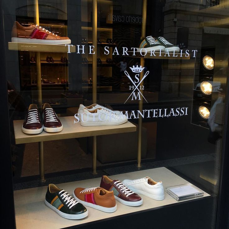 Great to be back in Milan and to be welcomed by my The Sartorialist x Sutor Mantellassi sneaks in the windows on Via Montenapoleone! They are finally available to the public!! Also I heard my sneakers will be in the window at @colette in Paris! There seems to be a more relaxed mood this season which makes being here with all the editors a little more fun. via ✨ @padgram ✨(http://dl.padgram.com)