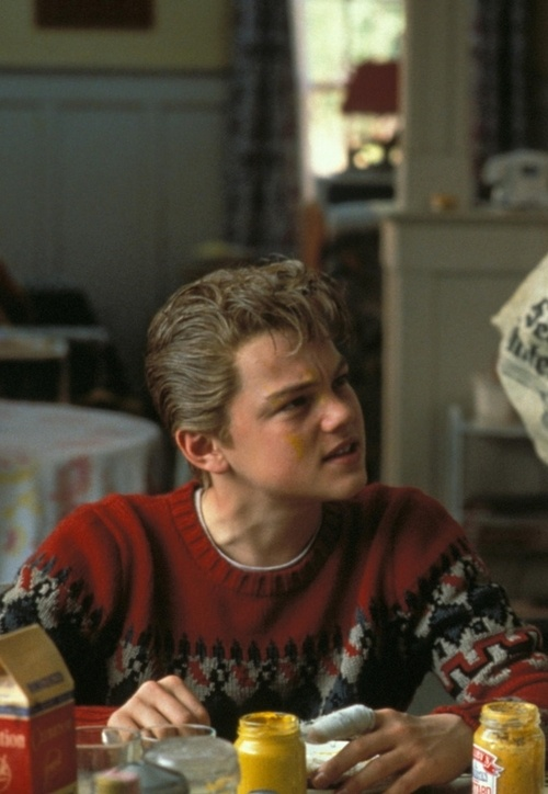Leo Angst Look. I think this is from This Boy's Life. Intense movie