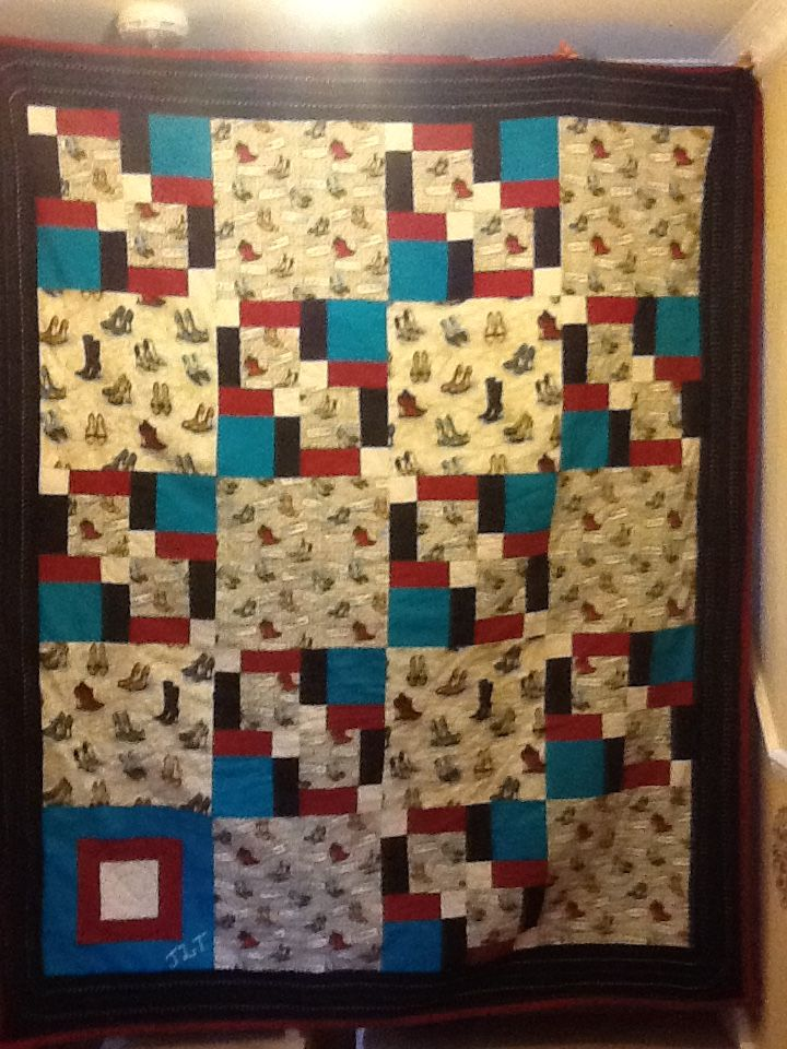 This is Jeannine's 50th birthday quilt,  Yes, she lovesssssssssss SHOES.