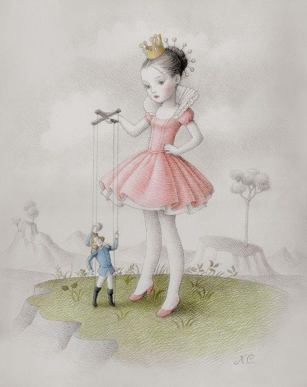 Works On Paper @ AFA Gallery • Beautiful Bizarre Magazine - Nicoletta Ceccoli ~ Boy Toy