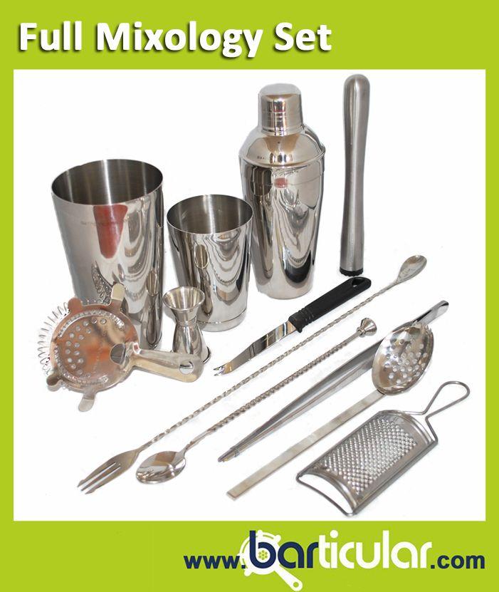 Kit completo di accessori Mixology in stile Vintage. Solo su www.barticular.com, lo shop online di accessori da barman.